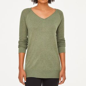 NWT LOFT Outlet textured sleeve tunic sweater